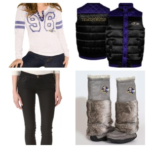 Shirt: Touch by Alyssa Milano; Pants: Current/ Elliot; Vest: Football Fanatics Boots: Cuce Shoes